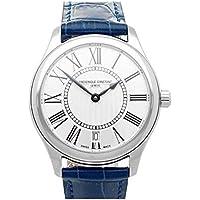 Frederique Constant Classics Silver Dial Blue Leather Ladies Watch