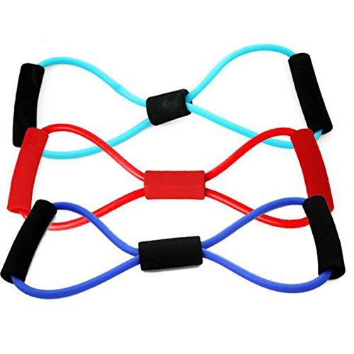 Tutoy Sport Fitness Yoga Resistance Band 8 Form Pull Seil Tube Equipment