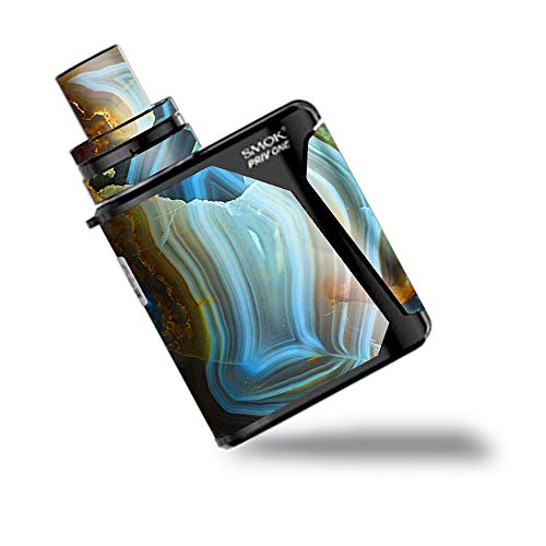 IT'S A SKIN Decal Vinyl Wrap for Smok Priv One AIO kit Vape Stickers Cover/Beautiful Geode Precious Stone Blue Brown