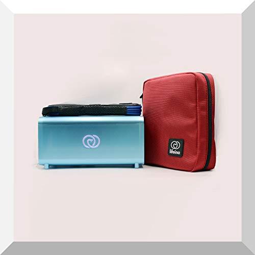 El kit Lifeina para viajar con diabetes. Transporte sus medicamentos en aviones, trenes y automóviles. Incluye la nevera portátil de insulina LifeinaBox, el EasyBag Classic y LifeinaBag24.