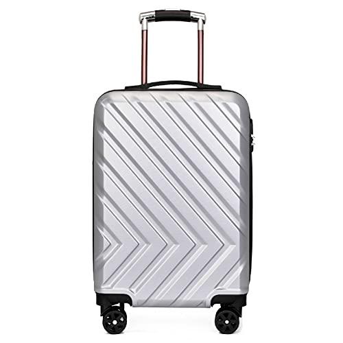 Trolley bagaglio Grande capacità bagaglio Password Valigia universale con cerniera ruota 20 pollici (34 * 22 * 54 cm) Nero, oro, oro rosa, Argento, D'argento, 20 pollici (34*22*54 cm),