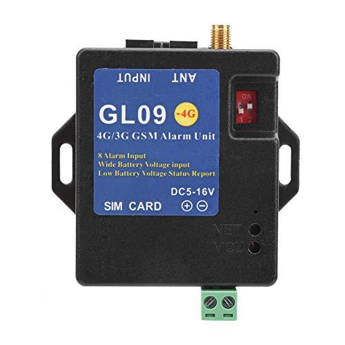 Módulo de alarma 4G / 3G / GSM, 8 canales de detección de alarma, sistema de alarma antirrobo DC 5-16V, host de alarma de teléfono SMS, para seguridad en el hogar, almacenes(Versión europea)