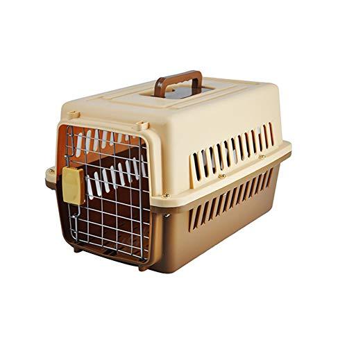 ZUOZUOZUO Huisdier Air Box Hond Kat Koffer Lucht Transport Zenddoos Grote Hond Transport Kat Kooi Draagbaar Uit, 81x57x60cm, BRON