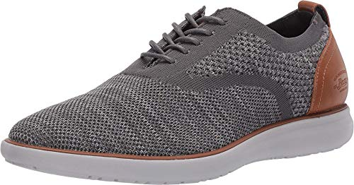 G.H. Bass & Co. Mens Connor 2 Tone KT Casual Oxford Shoe, Light Grey/Grey, 10.5 M