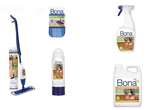 Spray Mop Parkettreiniger Set für geölte Parkettböden + 2,5 Liter Nachfüllkanister und 1 Flasche Sprühreiniger