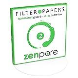 24 cm Lab Filter Paper, Standard Qualitative Grade 2 - ZENPORE Slow Flow 240 mm (100 Discs)