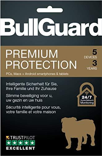 Bullguard Premium Protection 2018 - Abonnement 3 ans / 5 appareils [Code Jeu ]