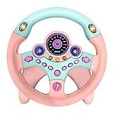 LQKYWNA Juguete del Volante, Simulador De Conducción para Niños Juguete del Coche Copiloto para Niños Rompecabezas del Volante Regalo Educativo Temprano (Pink)