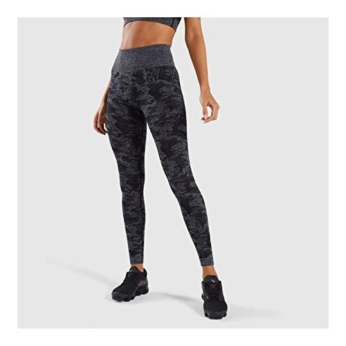 Leggings Leggings Sin Costuras De Camuflaje Mujeres De Cintura Alta Push Up Elastic Shark Fitness Pantalones De Yoga Gym Leggings Deportivos De Camuflaje Apretados yoga ( Color : Black , Size : S )