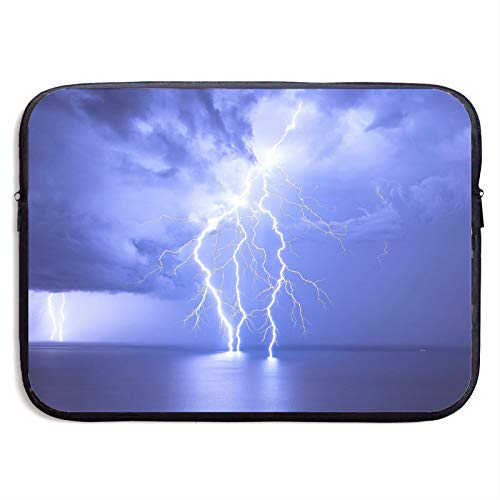 Laptop Sleeve Case Cover Bag, Computer Travel Pocket Pouch Handbag Compatible, Portable Tablet Slipcases Carry Bag for MacBook/HP/Acer/Asus/Dell Lightning Sea Surface 13 15 inch