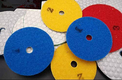 GIPOTIL 10 piezas 4 en 100 mm Disco abrasivo flexible de diamante seco Mable Renovación de pulido de piso de piedra de hormigón, Grano 1000