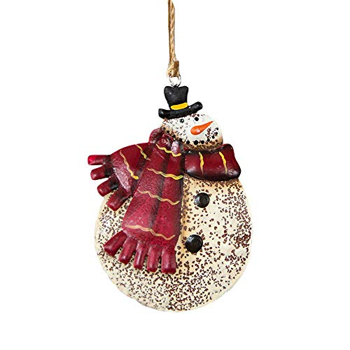 Christmas Wrought Iron Pendant Gifts Pendant Tree Ornament Party Home Hanging Decor, Xmas Decor Baubles Pendant Ornament Decorations Accessories Practical Design and Durable