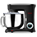 SanLidA Stand Mixer, 9.5 Qt. 10-Speed Electric Kitchen Mixer with Dishwasher-Safe Dough Hooks, Flat Beaters, Wire Whip & Pouring Shield Attachments for Most Home Cooks, SM-1551, Nero Nemesis Black (Renewed)