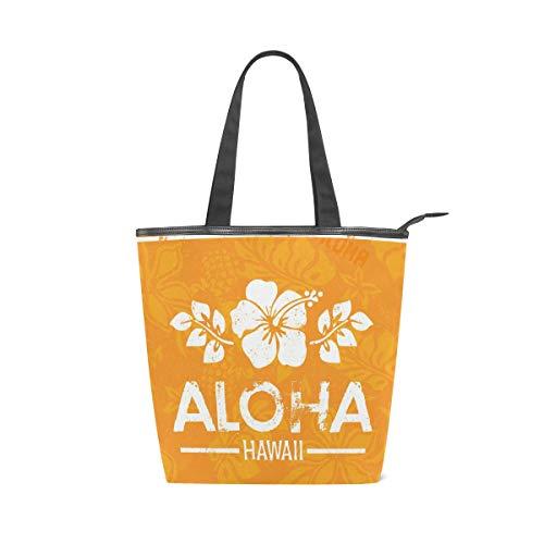 DEZIRO Retro Aloha Hawaii Handtasche Damen Handtasche