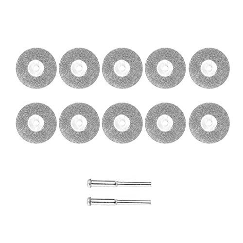 HJTYQS 20/26mm Mini Diamond Saw Blade Cutting Wheel Discs with 2Pcs Connecting Shank for Dremel Drill Fit Rotary Tool Accessory Kit (Color : 26mm)