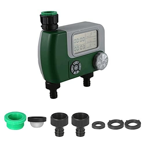 Irrigazione Timer - 1 2  e 3 4  Temporizzatore per Irrigatore Digitale LCD Timer Irrigazione modalità Programmabile Filetto Timer Automatico per Giardino Annaffiatura con Coperchio Impermeabile - 010