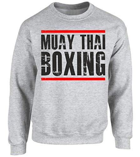 Muay Thai Sweater Pullover Fahne Sport ASH Mode D03 (L)