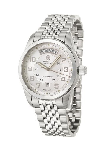 Victorinox Swiss Army Ambassador 24150 - Reloj de Caballero automático, Correa de Acero Inoxidable Color Plata