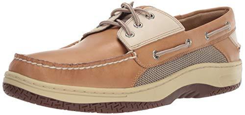 Sperry Mens Billfish 3-Eye Boat Shoe, Tan/Beige, 15
