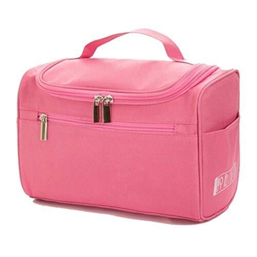 Grand sac cosmétique imperméables Hommes Femmes Voyage Sacs cosmétiques cosmétiques Exigence organisationnelle Trousse de toilette (Color : Pink)