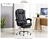 Kepler Brooks Italia High Back Reclining Leatherette Office/Desk Chair with Leg Rest (Black)