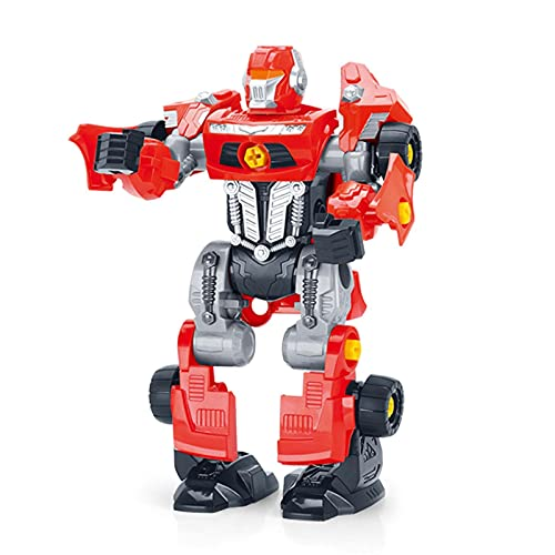 Transformación de robots, los niños se separan de los juguetes, construyen su propio juguete de transformación de robots de espacio, juguetes de robots con herramientas y taladro de energía