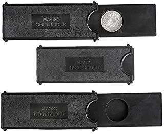 Rhode Island Novelty 4 Inch Magic Coin Case Black 24 Pieces