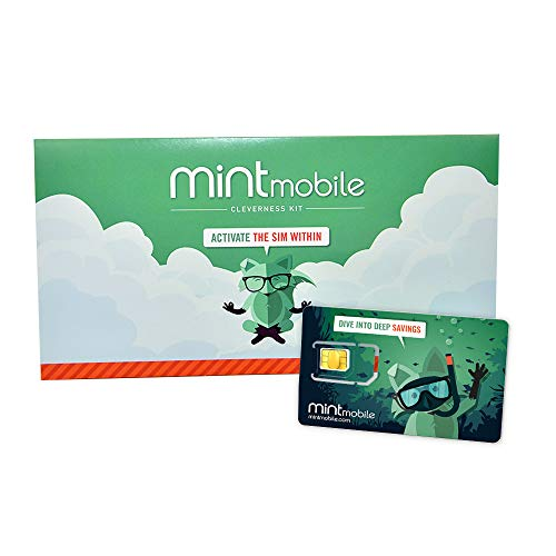 $30/Month Mint Mobile Wireless Plan | Unlimited Talk, Text & Data for 3-Months (3-in-1 GSM SIM Card)