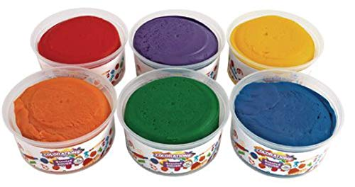 Colorations Scented Colored Dough, 6 Pounds, 6 Bright Colors and Fruity Scents, Non-Toxic, Resealable Tubs, Soft, Pliable, Non-Crumble, Modeling, Sensory, Smooth, School, Daycare, STEM (Item # ORANGE)