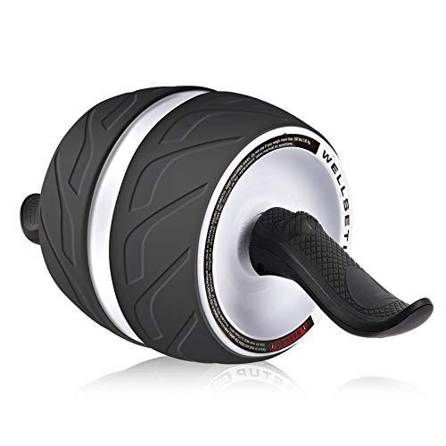 HQEFC - Rueda de reseña en forma de movimiento liso Abs rueda de ejercicio para fuerza y entrenamiento - Body Fitness-Workout-Home-Gym para la oficina al aire libre en casa