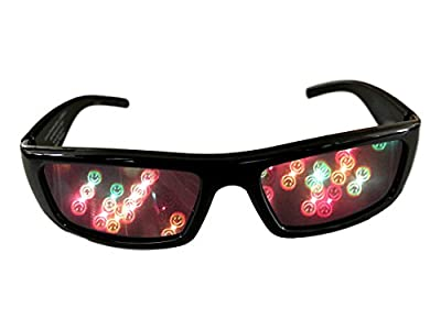 Alternative Imagination Smiley Face 3D Diffraction Glasses - Perfect for Raves, Music Festivals, and More