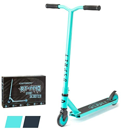 Photo of Osprey Stunt Scooter for Kids Adults Boys Girls, Advanced Kick T-Bar Scooter with ABEC 5 Bearings and HIC Headset, RT-1440, Teal