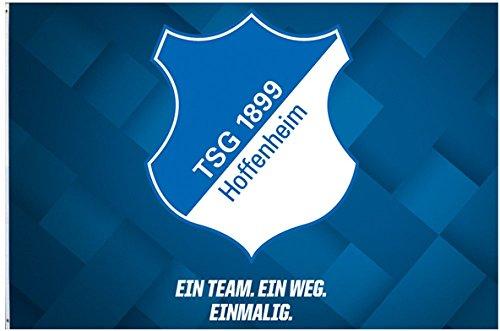 Flaggenfritze Hissflagge TSG 1899 Hoffenheim - 100 x 150 cm + gratis Aufkleber