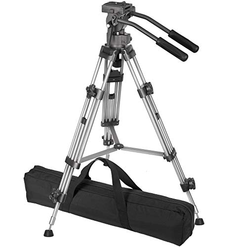 "Ravelli AVTP Professional 55"" 65mm Video Camera Tripod with Fluid Drag Head"