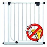 EASY STEP PREMIUM | 62cm - 222cm | Barrières sécurité qualité  blanc 73-82 cm