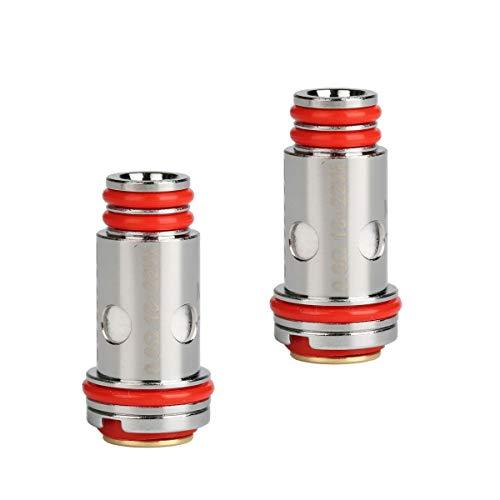 Riccardo Whirl Coils (0,6 Ohm), Nickel-Chrom NiCr, Uwell Verdampferköpfe für e-Zigarette, 4...