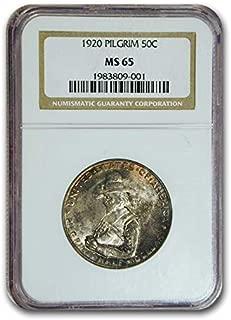1920 Pilgrim Tercentenary Half Dollar MS-65 NGC Cent MS-65 NGC