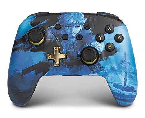 Verbesserter Kabelloser PowerA Controller für Nintendo Switch – Link Blue, Nintendo Switch Lite, Gamepad, Spiele-Controller, Bluetooth-Controller