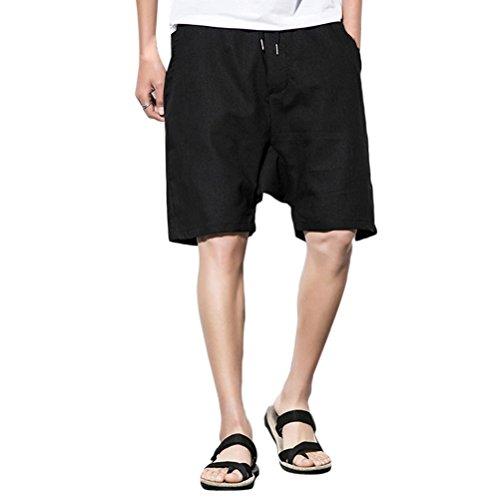 Zhhlinyuan Herren Badeshorts Badehose Beach-Shorts Kurze Haremshose Männer für Damen Drop Crotch Mens Trunks Beach Shorts Wide Leg