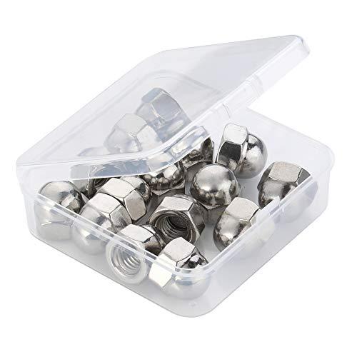 10-24 Acorn Cap Nuts, Stainless Steel 18-8 (304) (304), Plain Finish, Quantity 40