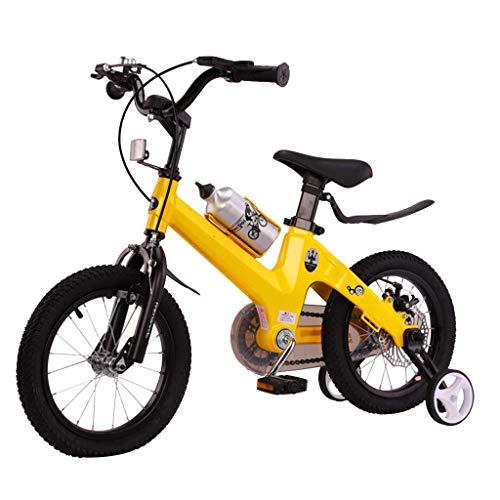 LHAHGLY Bicicletas para niños, Bicicletas para niños con Pedales para niños y niñas, Ruedas de Entrenamiento extraíbles, con Soporte de Botella de Agua, 12 14 Ruedas de 14 Pulgadas, 4 Colores