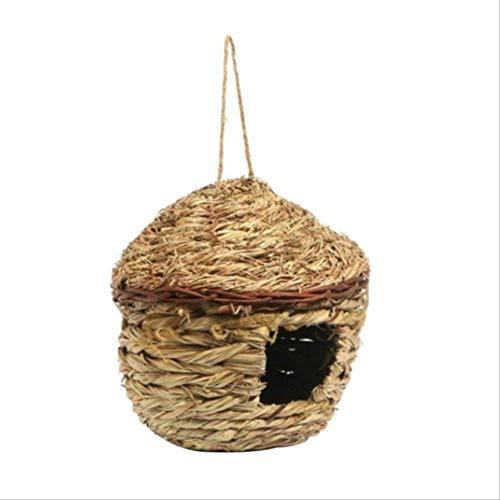 XYBB nestkastje voor dieren Cage Straw Small Bird Cages Nests Birdhouse voor Parrot Birds ham Nest Huis Decor Ornamenten, 14CMX16CMCM, Goud