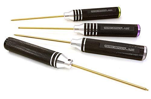 Integy RC Model Hop-ups C26940 Allen Hex Wrench Set US Size (4pcs) w/ Color Coded End-Cap 0.05 1/16 5/64 3/32
