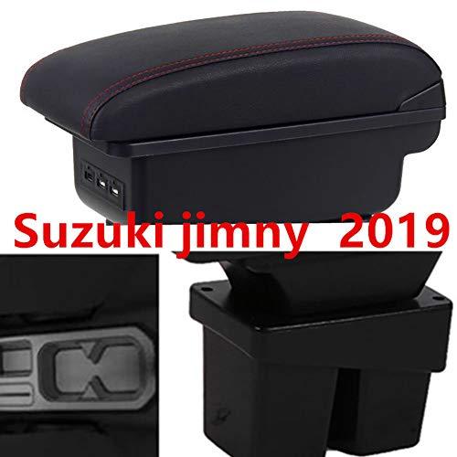 LSYBB Armlehne Box 3 * USB Doppelschicht Central Store Inhalt Getränkehalter Aschenbecher Zubehör Für Suzuki Jimny 2019+,B