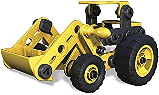 Meccano Junior, Truckin' Tractor, 4 model Building Set, 87 Pieces, For Ages 5, STEM Construction Education Toy