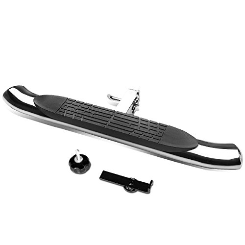 37 inches x 4 inches Oval Tube Class III 2 inches Recevier Hitch Step Bar (Chrome)