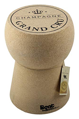 Beat - Serie tappi di Champagne, 1 tavolino-sgabello in sughero modellato, design di Mini Garibay