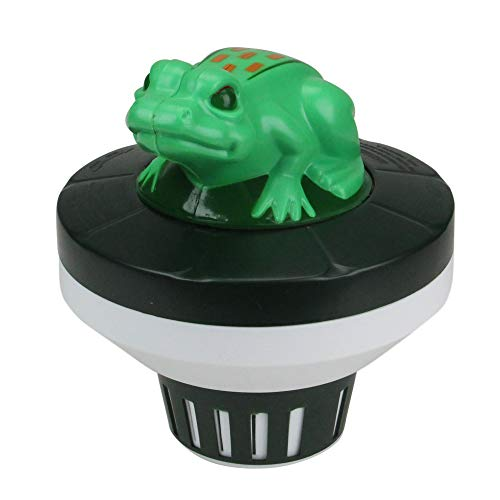 "7.5"" Green and Black Frog Floating Swimming Pool Chlorine Dispenser"