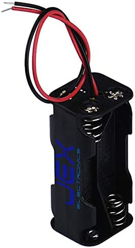 Jex Electronics Four/Quad/4X AAA DIY Battery Holder Case Box Base 6V Volt PCB Mount with Bare Wire Ends