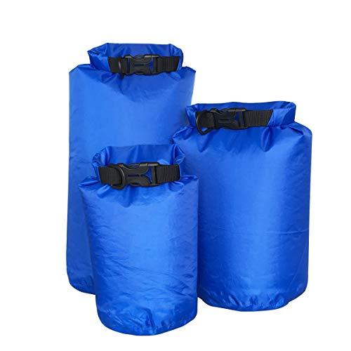 VORCOOL 3 Stücke Im Freien Treiben wasserdichte Rucksack Wassersport Schwimmen Tasche Handy Kamera Licht Gewicht Feuchtigkeitsbeständige Tasche (Blau) Sportwaren